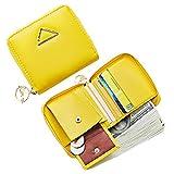 Deman Brieftasche Kreditkarteninhaber Reißverschluss um Geldbeutel Mädchen Süße Geldbörse Mini Pocket Münze Bargeldschlüssel Karte Kupplung kompakte Gelb