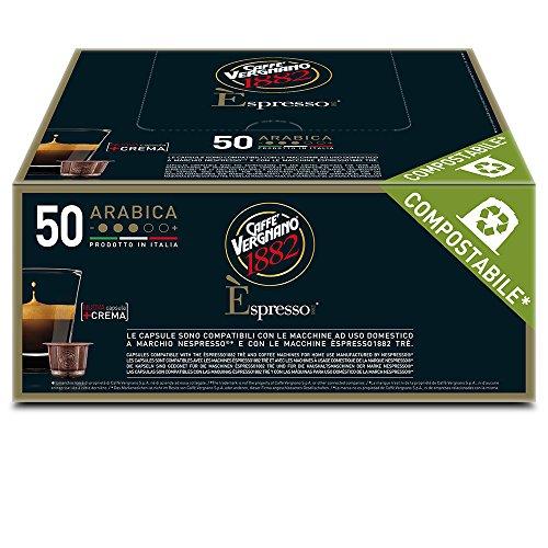 Vergnano 50 Capsules E'Spresso Arabica Compostable, 1er Pack (1 x 250 g)