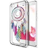 Huawei P9Lite Funda, Huawei P9Lite Cover, ikasus Ultra Thin Suave TPU Caso, colorido arte pintado Mandala flores suave silicona caso de goma, cristal transparente floral suave carcasa de silicona para Huawei P9Lite,