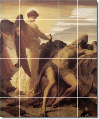 FREDERICK LEIGHTON ANGELES BAñO AZULEJO MURAL 26  21 2X 25 5CM CON (30) 4 25X 4 25AZULEJOS DE CERAMICA