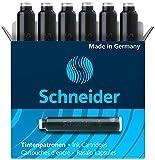 SCHNEIDER Tintenpatronen 6601, schwarz, Inhalt: 6 Stück