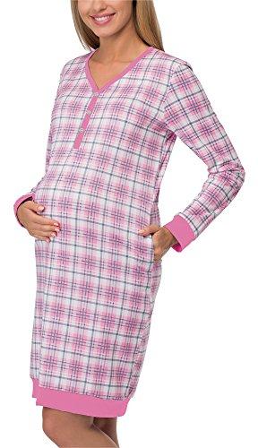 Cornette camicia da notte premaman 606 (rosa/rosa, s)