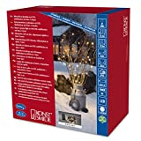Konstsmide 3733-100 LED Lichterkette / für Außen (IP44) /  Batteriebetrieben: 4xD 1.5V (exkl.) / 6h-Timer / mit 8 Funktionen, Steuergerät und Memoryfunktion / 240 warm weiße Dioden / schwarzes Kabel