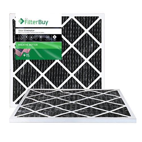 filterbuy Allergen Geruch Eliminator Merv 8Bundfaltenhose AC Ofen Air Filter mit Aktivkohle, 2Stück - 20x22x2 Ofen-filter