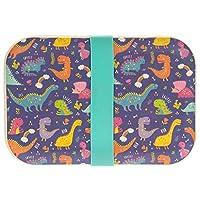 Lesser & Pavey Bamboo Eco Lunch Box Dinosaur, muli-Colour, 18 x 12 cm
