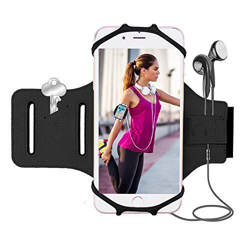 Bovon Sport Armband, Handytasche Sport  Kompatibel mit 4.0-6.2 Zoll Smartphones (Schwarz) (Nike Sport Plus Sehen)