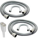 Spares2go, kit tubo di scarico + adattatore di uscita da 2 a 1 per lavatrice o lavastoviglie Bosch (2 tubi, 1 adattatore)