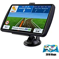 SAT NAV 7-inch high-brightness touchscreen+Real Voice Navigation System,built-in 8BG No need to insert a card, pre-installed UK and EU maps for free lifetime updates.