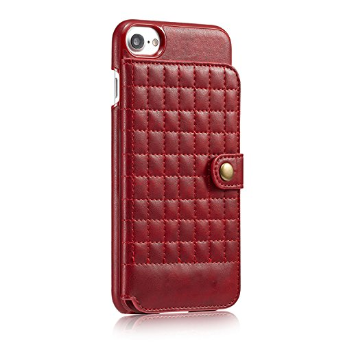 Case per iPhone 6 Card ,Cover per iPhone 6, Bonice Vintage Synthetic Leather Wallet Ultra Slim Professional Executive Snap On Cover with 2 Card Holder Slots Case Cover per iPhone 6/6S (4.7 pollici) +  Griglia - Cover - 03