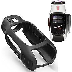 TUSITA Funda protectora para Garmin Virb Elite, Reemplazo de piel de silicona Accesorios para Garmin Virb Elite Acción Cámara con protectores de pantalla (NEGRO)