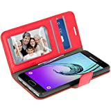 Housse, Etui folio portefeuille Stand-case pour Samsung Galaxy A3 2016 - Rouge