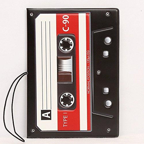 Ducomi® Funny Travel- Custodia Passaporto Unisex con Stampe Supereroi e Figurative - Porta Passaporto da Viaggio - Dimensioni: 14 x 10 x 0,4 cm (Audio Tape)