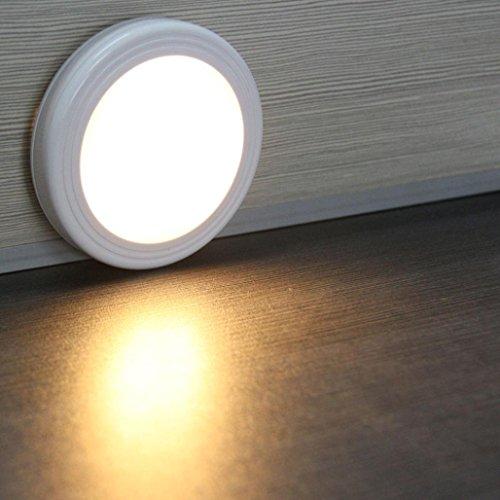gaddrt Lampe 6 LED Wireless PIR Auto Motion Sensor Infrarot Nachtlicht Schrank Treppe Lampe -