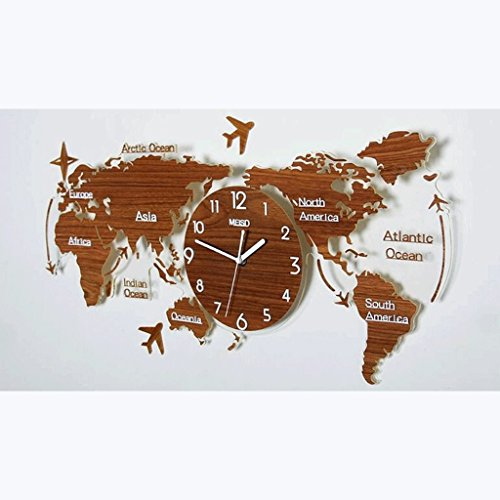 A32 wall clock al mejor precio de amazon en savemoney wtl wall clock orologio da parete creativo personality fashion wall chart orologio atmosferico world map clock gumiabroncs Choice Image