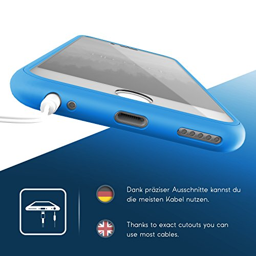 Urcover® Apple iPhone 6 Plus Touch Case Handy Schutz-Hülle [ Displayschutz ] Grün | Silikon TPU rundum | Slim Cover | Full Body View | Wallet Schale Hell Blau