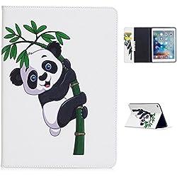 Kcdream Étui pour iPad Air 2, Ultra Fin Coque Cuir PU Housse Étui de Protection avec Fermeture Magnétique en Veille, Pochette Coque Case Cover pour Apple 9,7 Pouces iPad Air 2 / iPad 6 - Bambou