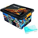 Playmobil–064673–gran caja de almacenaje 23L + caja con divisiones–Dragons