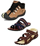 #3: Tempo Men's Combo Pack of 2 Footwear (Outdoor Shoes, Slippers & Floaters Sandals)