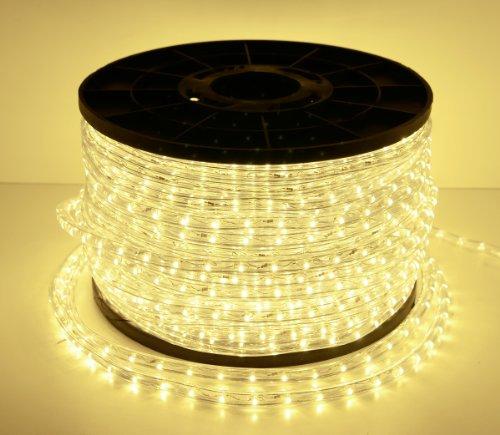 LED Lichterschlauch Lichtschlauch Lichterkette Licht Leiste Xmas Schlauch 230V Steckerfertig für Innen und Außen-Bereich - Preis bezieht sich auf 1 Meter - Warmweiß