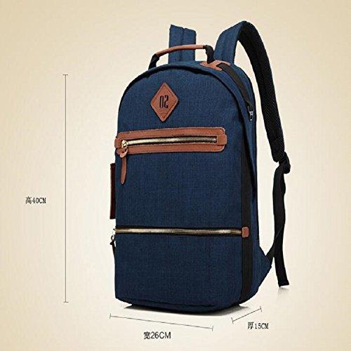 Z&N Modo creativo borsa a tracolla borsa per il tempo libero grande capacità zaino da viaggio outdoor ciclismo corsa passeggiata viaggio arrampicatablack16L blue