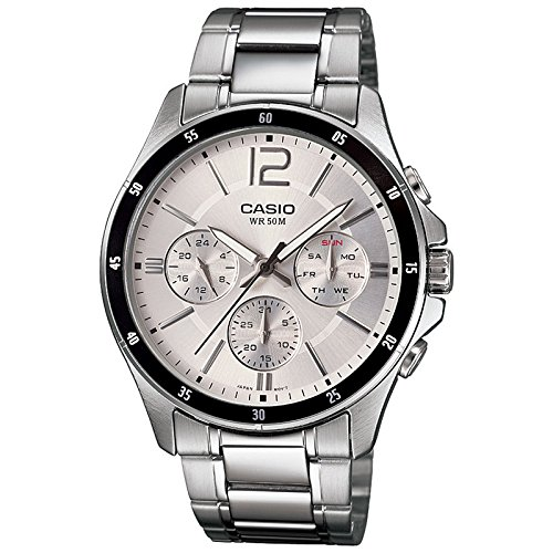 casio enticer chronograph white dial men's watch - mtp-1374d-7avdf (a833) Casio Enticer Chronograph White Dial Men's Watch – MTP-1374D-7AVDF (A833) 51p6L3KhNjL