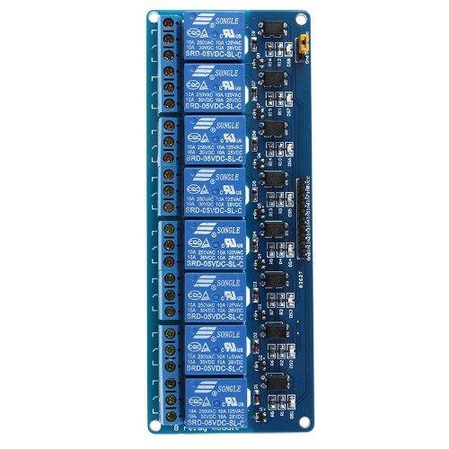 51p6L6CNXoL - Kkmoon 8-CH - Placa del módulo de relé de 8 canales (5V)
