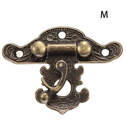 Schmuckkästchen aus Holz Hasp Pad Chest Lock Antik Vintage Schnappverschluss 64 51mm bronze (Vintage Chest Latch)