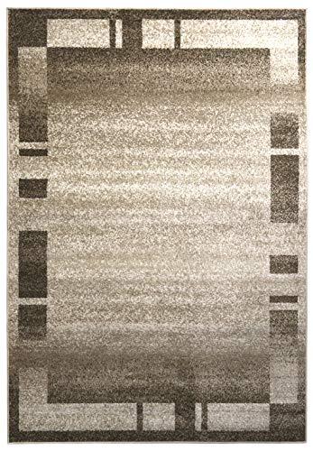A2Z Tapis Contemporain Zone Tapis Moderne Palma 9958 Tapis Home D COR, Beige, 200x290 cm - 6'6\