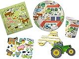 66-tlg. Partyset Mottoparty Bauernhof - für 8 Kinder - Partygeschirr und Zubehör