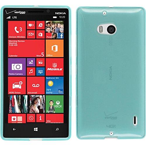 PhoneNatic Custodia per Nokia Lumia 930 Cover turchese trasparente Nokia Lumia 930 in silicone + pellicola protettiva