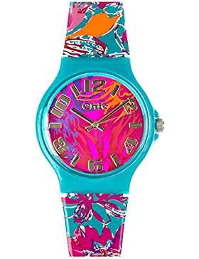 Teenie Chic Kinder Uhr uc016–Armbanduhr Damen, Armband aus Kunststoff Farbe türkis