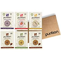 Purition Dairy-Free Vegan Trial Box | High Protein Meal Replacement Shake or Smoothie | Healthy Omega Fats and Fibre from All Natural Energy-Rich Wholefoods | Ideal for Weight Loss and Post Workout Recovery | 6 x 40 grams Sachets