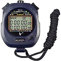 Calesi Digital Professional Handheld LCD Sports Chronomètre Three-row 30souvenirs genoux