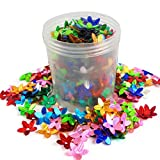 #4: eshoppee sequins sitara, 20gm box,for jewellery making art and craft diy kit, Glitter sequince Rhinestones Beads (small flower)