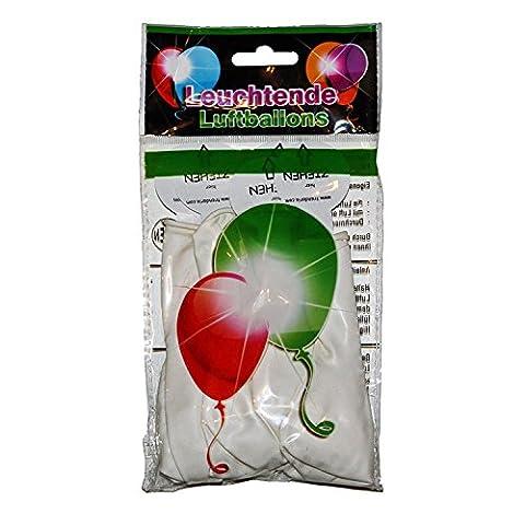 15 LED leuchtende Luftballons - Bunt/Blau/Grün/Rosa/Rot/Weiss - schöne Ballons für
