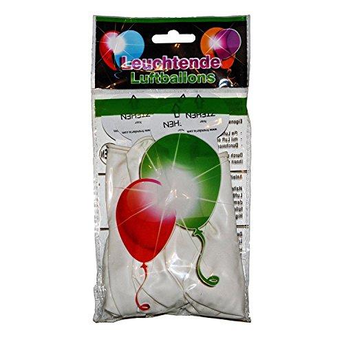 15 LED leuchtende Luftballons - Bunt/Blau/Grün/Rosa/Rot/Weiss - schöne Ballons für die Party, Geburtstag, Hochzeit, Festival (Weiss) (Und Grünen Blauen Die Perücke)