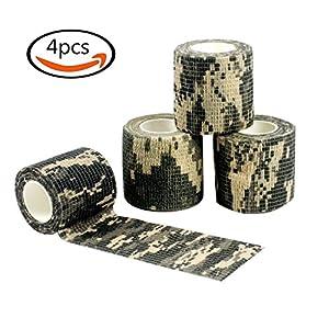 Goodlucky365 4 Rouleaux ACU Camouflage Tapes Auto-adhésif Non-tissé Outdoor Camo étanche Camo pour la chasse à la carabine de chasse