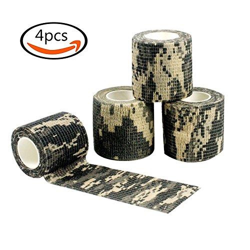 Goodlucky365 4 rotoli ACU Camouflage nastri autoadesivi Tessuto non tessuto esterna nastro Camo impermeabile per (Tessuto Nastro Adesivo)