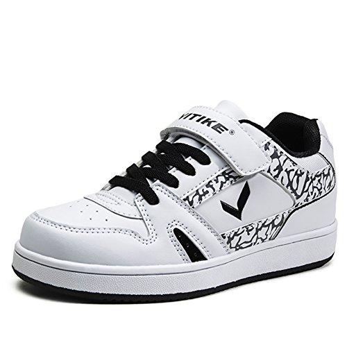 ASHION Bianco Bambini di pallacanestro scarpe traspiranti Ragazzi Shoes antiscivolo Chaussure Basket Stivali bianco