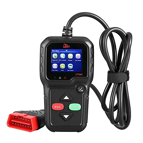 Mbuynow OBD2 EOBD Diagnosegerät OBD2 Scanner, Uten Fehlerauslesegerät KFZ Auslesegerät mit 2,8 Zoll Farbdisplay, Extra BAT Check, O2 Sensor, On-board Monitoring Test 16 polig OBD Schnittstelle Test