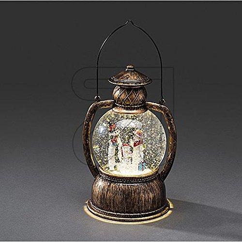 LED Laterne Schneelaterne antik groß * viele verschiedene Modelle * (Schneemann (Kugel-Laterne))