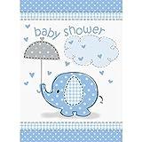 Unique Party Umbrellaphants Baby Shower Einladungen, hellblau (Einheitsgröße) (Blau/Weiß)