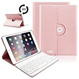 COO Funda con Teclado Español iPad Air 2 Bluetooth, 9,7 pulgada Cubierta con Teclado Extraíble...