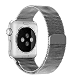 Blesihu-Watch-Band-for-Apple-Watch-Stainless-Steel-Magnetic-Closure-Clasp-Milanese-Loop-Mesh-Band-for-Apple-Watch-Sport-Silver-42mm