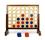Giant Connect 4 Game for Garden & Outdoor – Wooden & Big 4 Connect in a Row for Kids, Adults & Family – large Connect Four Board Game – by Yard Games