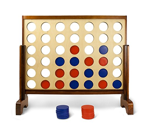 Giant Connect 4 Game for Garden & Outdoor � Wooden & Big 4 Connect in a Row for Kids, Adults & Family � large Connect Four Board Game � by Yard Games