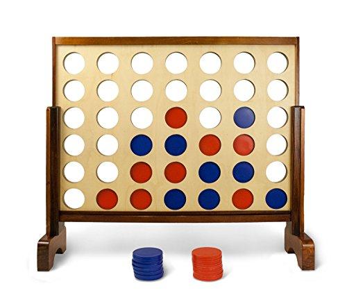 (Yard Games – 4 Gewinnt Holz XXL Spiel – Riesen Vier Gewinnt für Draußen, Outdoor & Garten)