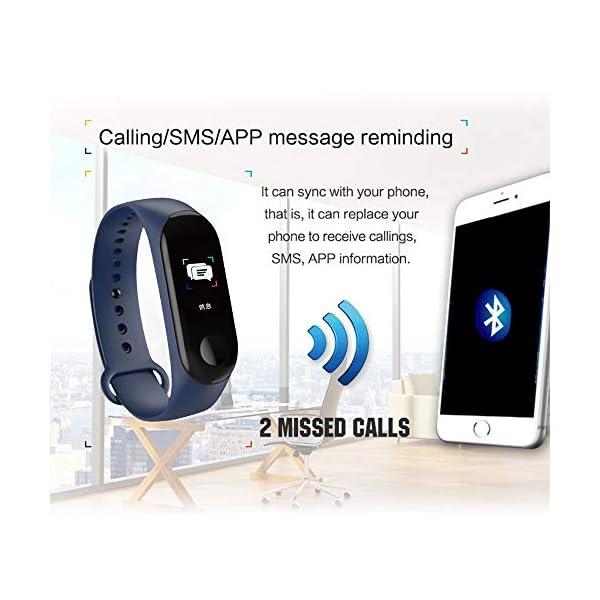 Konesky Fitness Tracker Monitor de Ritmo cardíaco Pulsera de presión Arterial Actividad Reloj Podómetro Contador de calorías Pulsera para Android iOS Smartphone 6