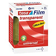 Tesa 57406-00002-00 Spar-Set 5x: Tesafilm transparent 66:19 Office-Box a 8 Rollen FARBLOS Länge/m: 66,00 Breite/mm: 19,0