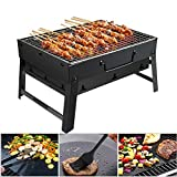 Barbecue Portable Golwof Barbecue Pliable Barbecue à Charbon Camping en Acier...